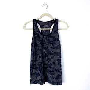 Athleta Blue Camo Racerback Tank Top
